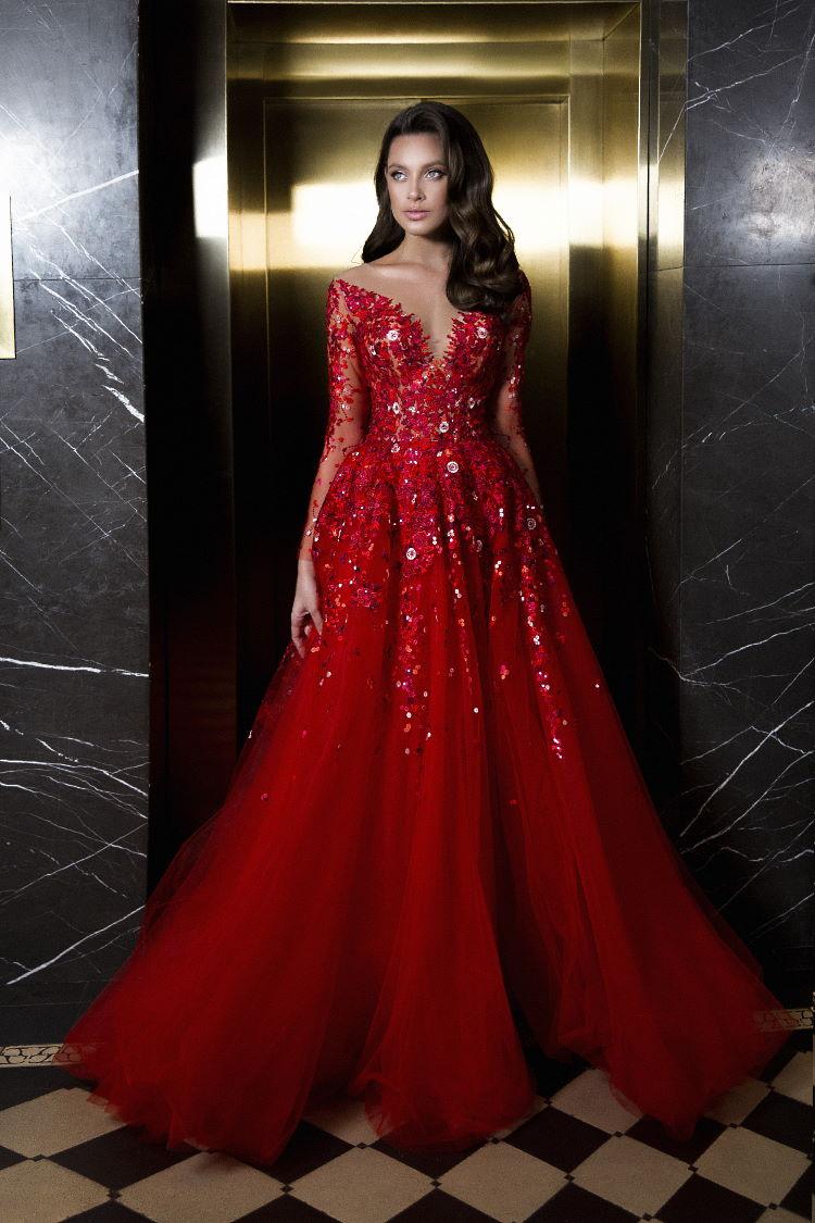 robe de soiree decollete en v