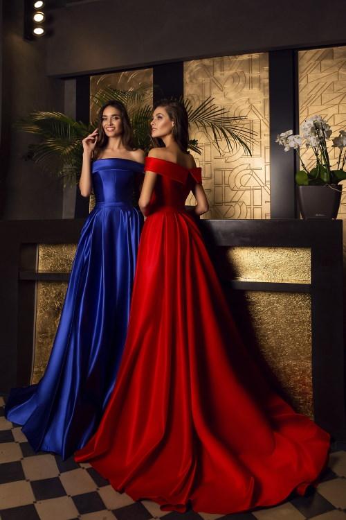 Robe de soirée rouge/bleue