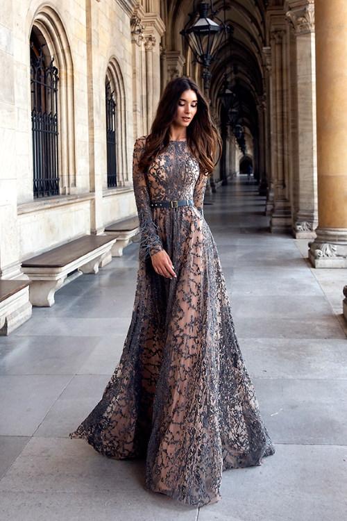 Robe de soirée longue de luxe