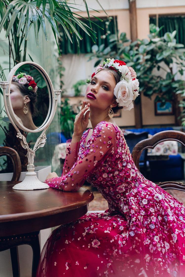 robe de soiree rose fuchsia