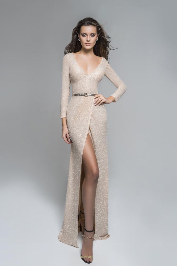 robe de soiree tres sexy effet peau nue