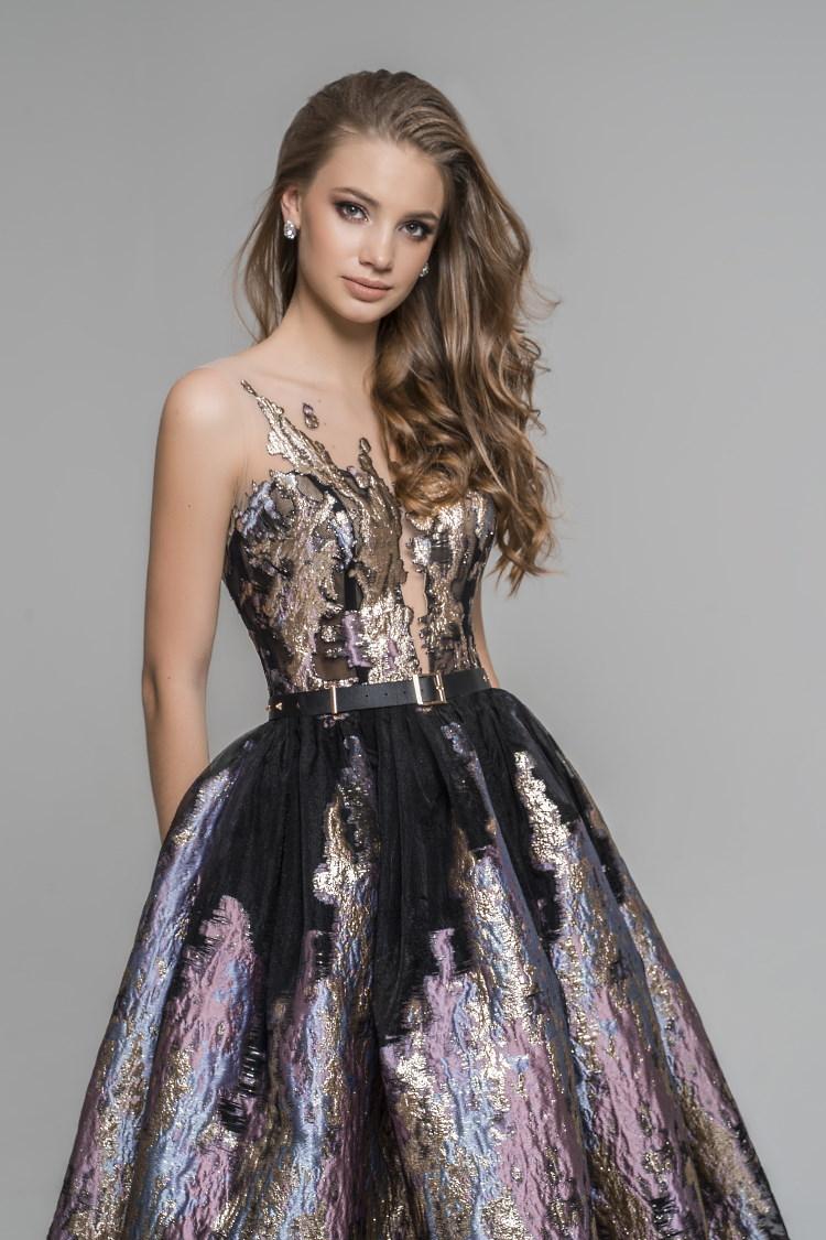 robe effet metallique sur mesure paris