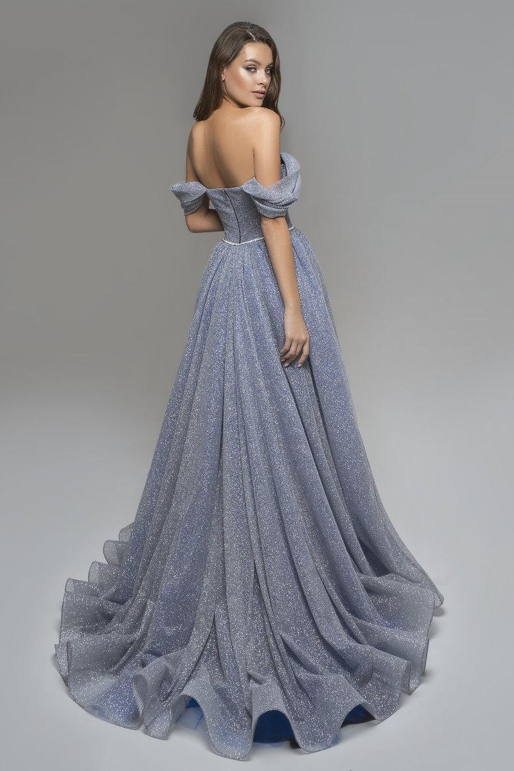 robe encolure bardot pailletee - soiree ceremonie gala mariage