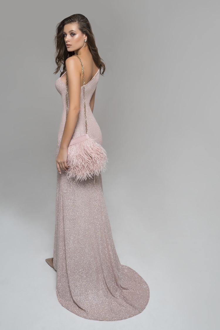 robe nude paillettee de luxe