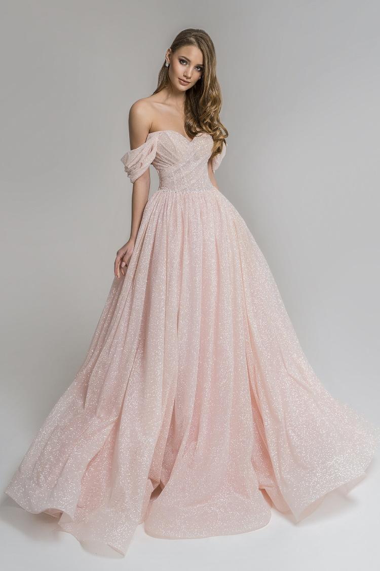 robe pailletee rose sur mesure - mariage ceremonie gala soiree