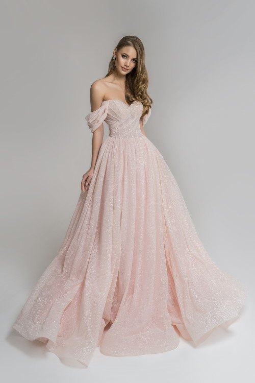 Robe princesse rose pastel