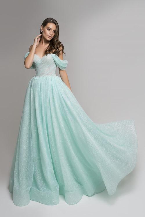 Robe princesse vert d'eau
