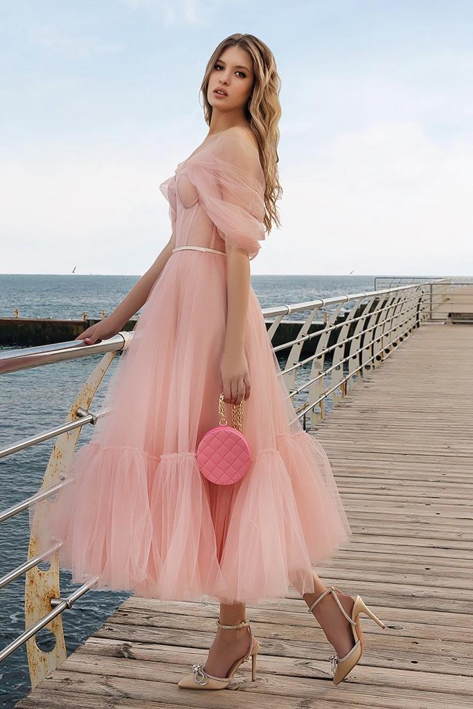 robe de ceremonie rose pastel