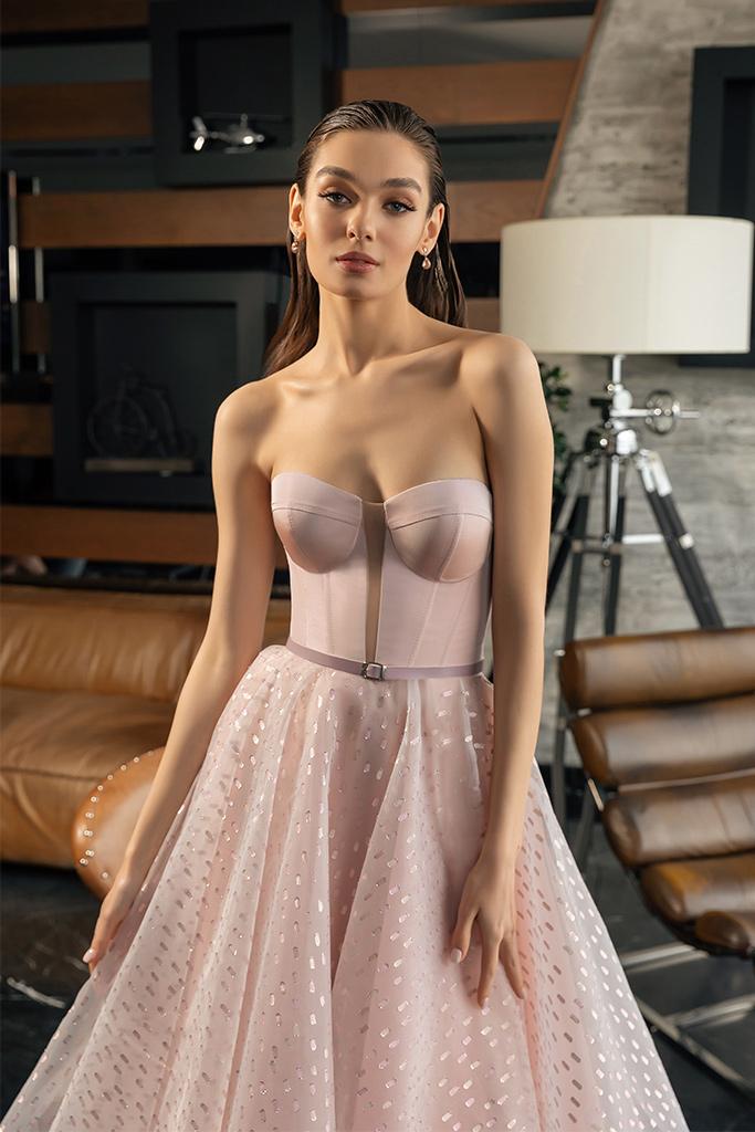 robe de cocktail rose pale