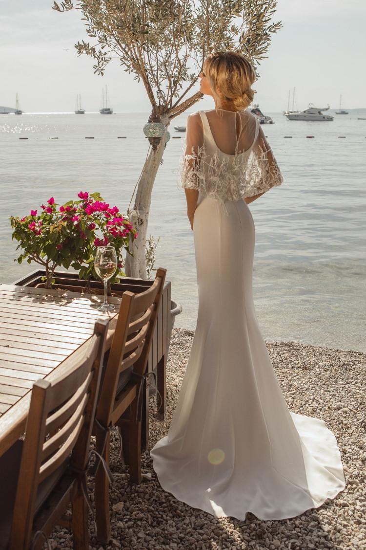 robe de mariee avec cape