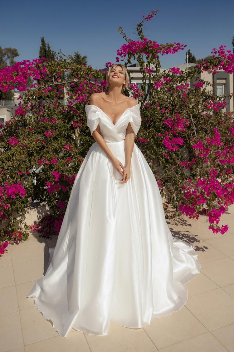 robe de mariee col bateau