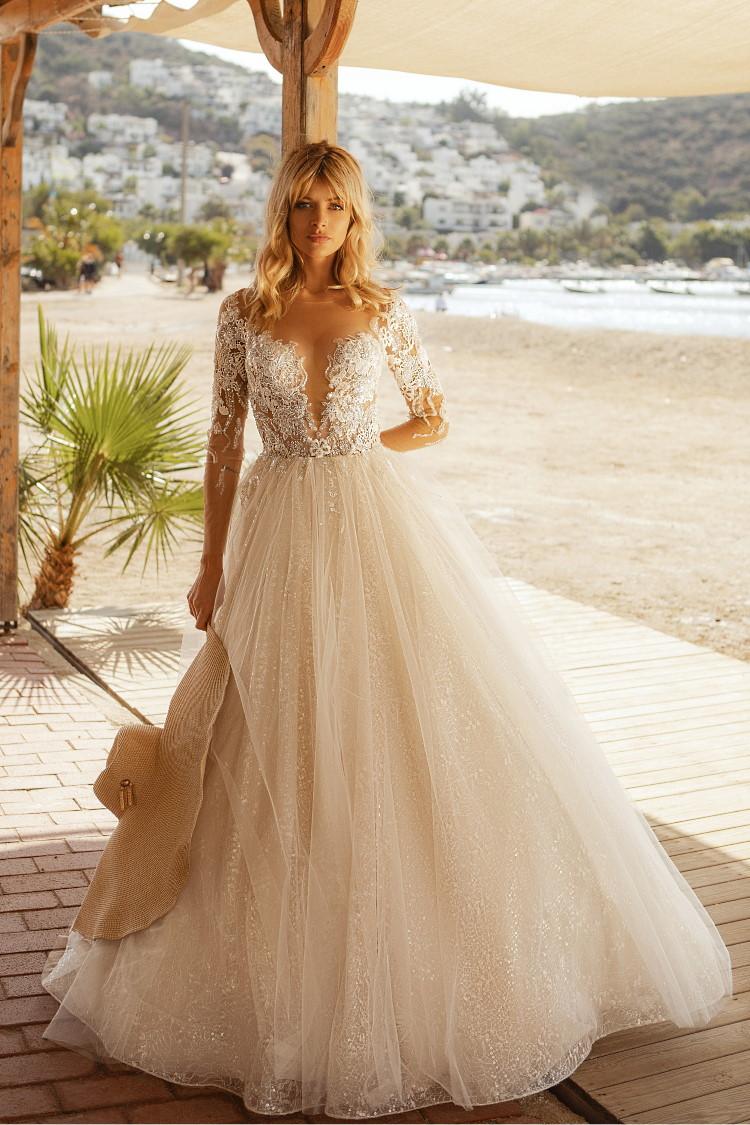 robe de mariee decollete illusion