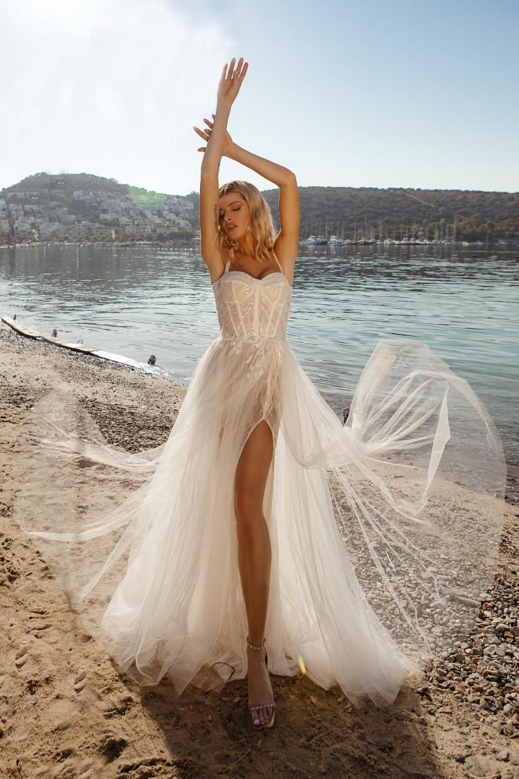 robe de mariee mariage sur la plage