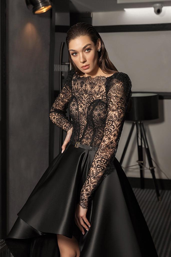 robe de soiree bustier en dentelle transparent
