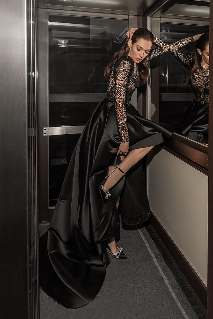 robe de soiree noire en dentelle