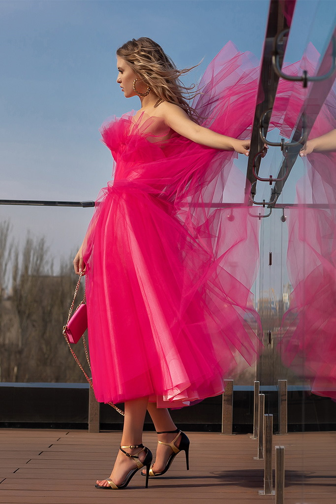 robe demoiselle d honneur rose fuschia