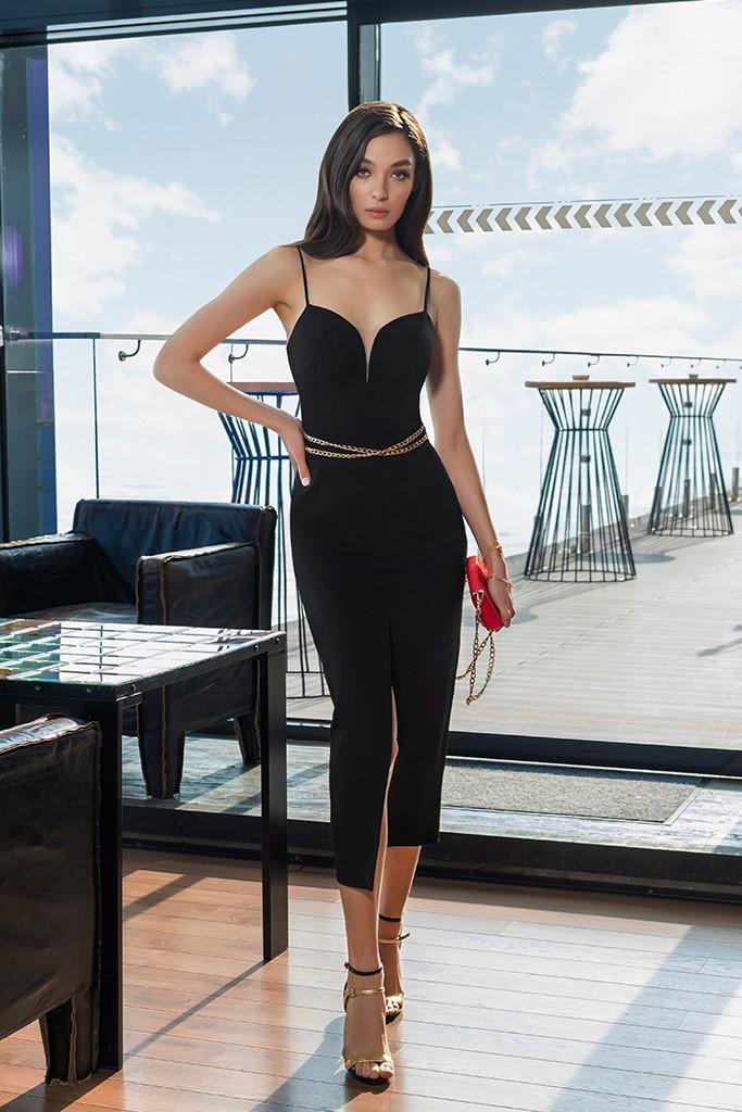 robe fourreau noire moulante