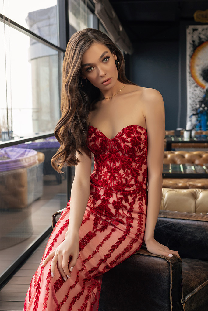 robe habillee avec bustier coeur