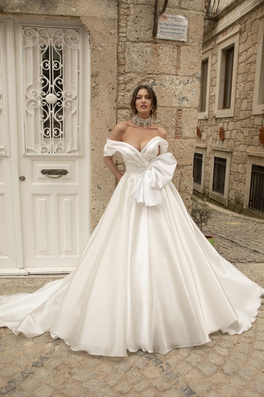 robe de mariee bustier drape