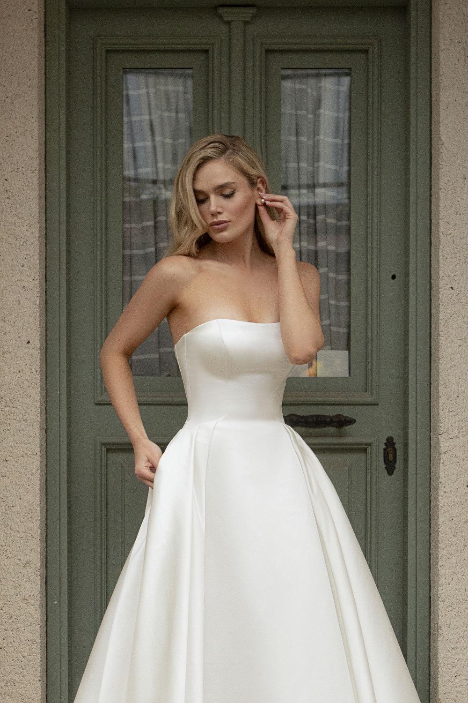 robe de mariee bustier droit