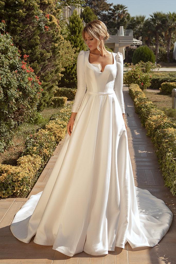 robe de mariee couvrante opaque