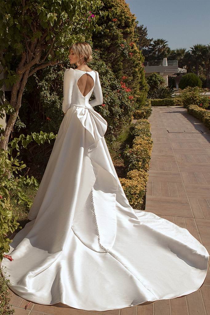robe de mariee manche longue soie