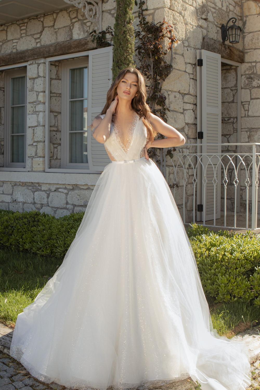 robe de mariee princesse pailletee