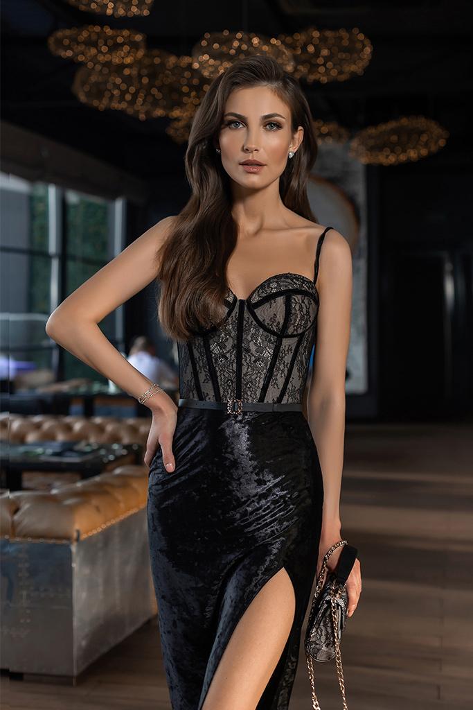 robe de soiree noire sur mesure