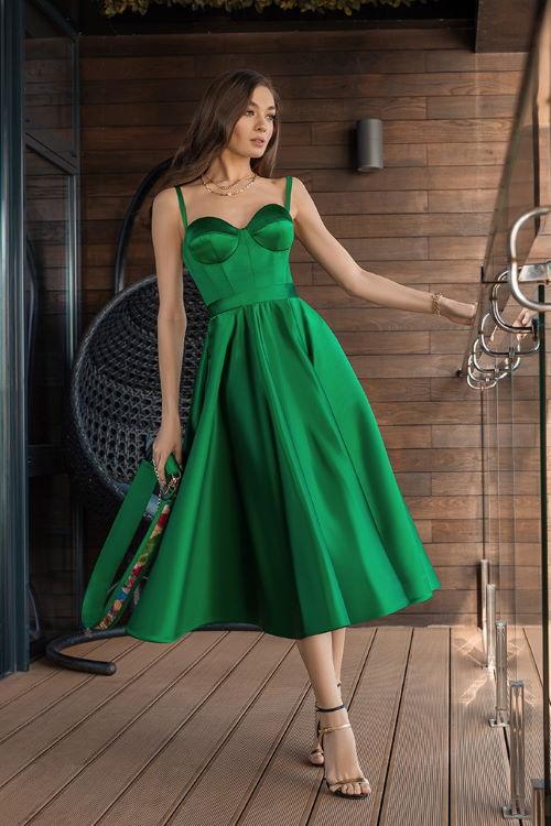 Robe invitée de mariage verte