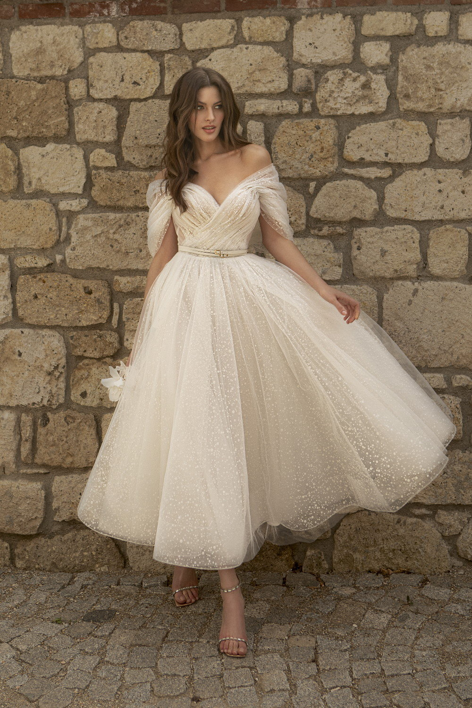 robe de mariee avec jupe patineuse