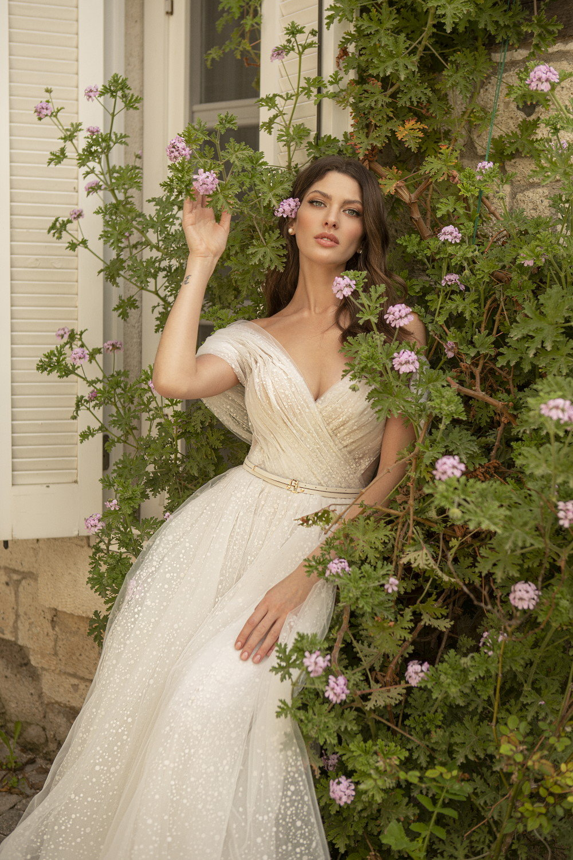 robe de mariee bustier croise