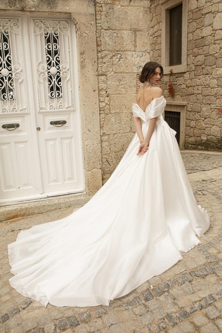 robe de mariee en satin de soie