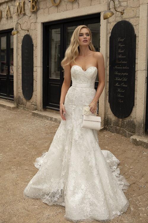 Robe de mariée à manches ballon