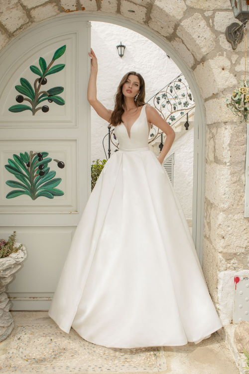 Robe de mariée en satin de soie