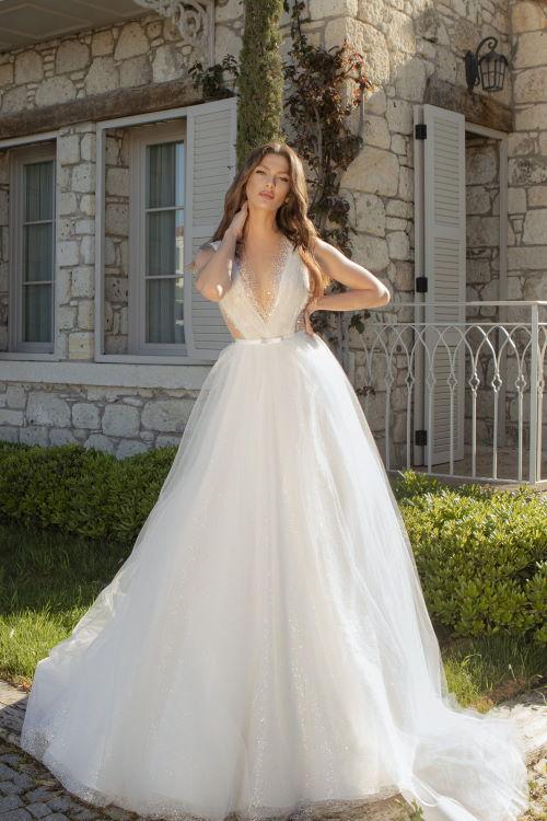 Robe de mariée pailletée