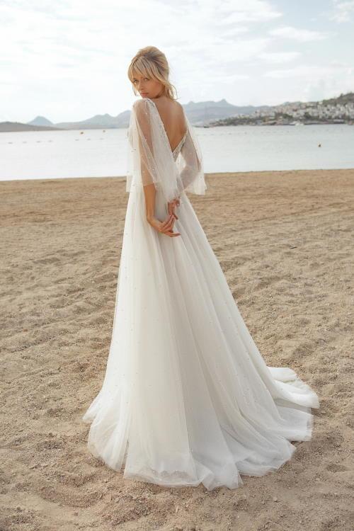 Robe de mariée perlée